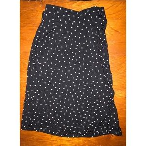 L.A. Hearts polka dot mini skirt